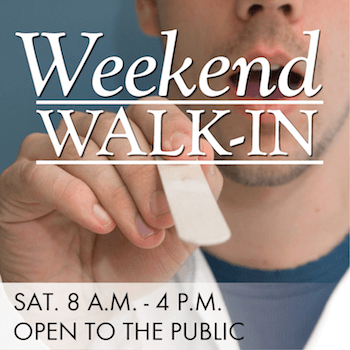 Weekend Walk-in